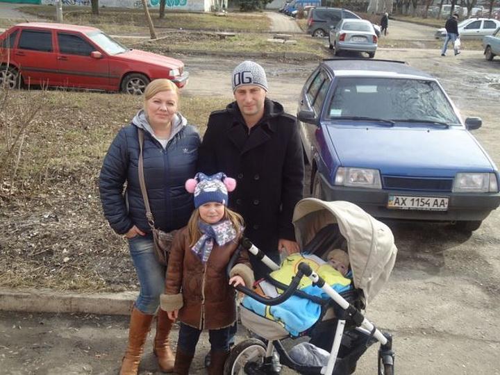 Євген Краснокутський з сім'єю