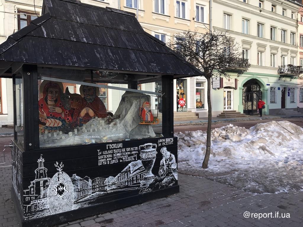 Ісус живе біля ратуші. У Франківську вже четвертий рік діє шопка з музикою, інтерактивом і місцевим Єрусалимом (фоторепортаж)